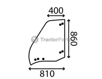 Стъкло за лява врата (отваряемо, горна част, плоско) - Merlo Multifarmer